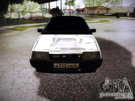 ВАЗ 2108 Хром для GTA San Andreas вид сзади