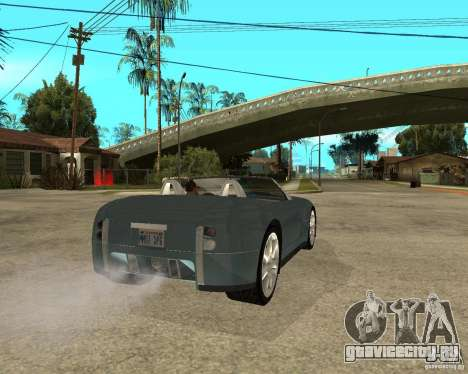 Ford Cobra Concept для GTA San Andreas вид сзади слева