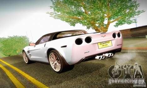 Chevrolet Corvette ZR-1 для GTA San Andreas вид справа