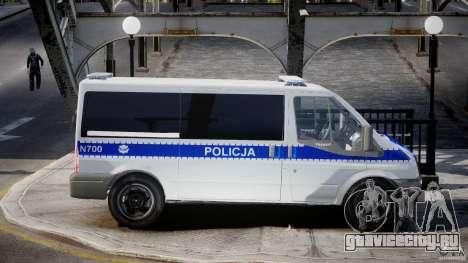 Ford Transit Polish Police [ELS] для GTA 4 вид сзади