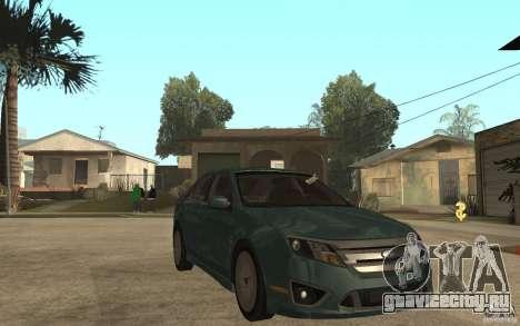Ford Fusion 2010 для GTA San Andreas вид сзади
