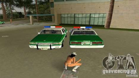 Ford LTD Crown Victoria 1985 Interceptor LAPD для GTA Vice City вид сзади слева