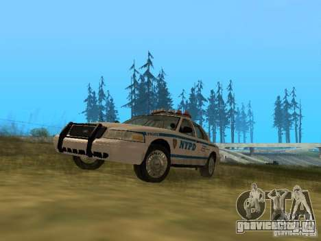 Ford Crown Victoria NYPD Police для GTA San Andreas вид слева