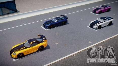 Dodge Viper SRT-10 ACR 2009 v2.0 [EPM] для GTA 4 двигатель