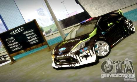 Ford Fiesta Gymkhana 4 для GTA San Andreas вид снизу