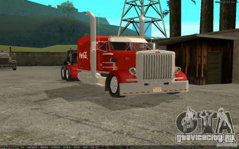 Peterbilt 379 Custom Coca Cola для GTA San Andreas вид слева