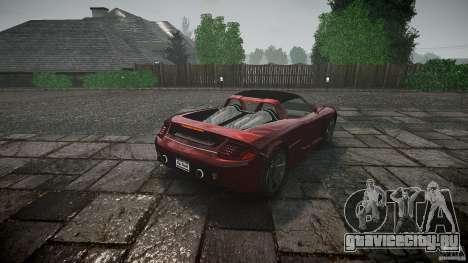 Porsche Carrera GT для GTA 4 вид сзади слева