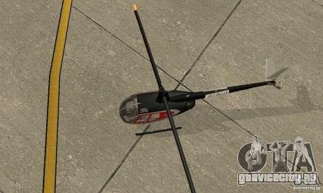 Robinson R44 Raven II NC 1.0 Скин 2 для GTA San Andreas вид сзади