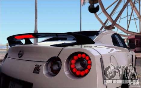Nissan GTR Egoist 2011 (Версия с грязью) для GTA San Andreas колёса