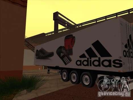 Прицеп Adidas для GTA San Andreas вид справа