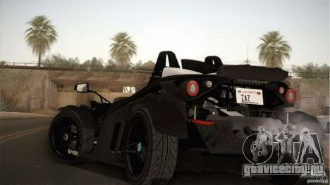 KTM-X-Bow для GTA San Andreas вид сзади слева