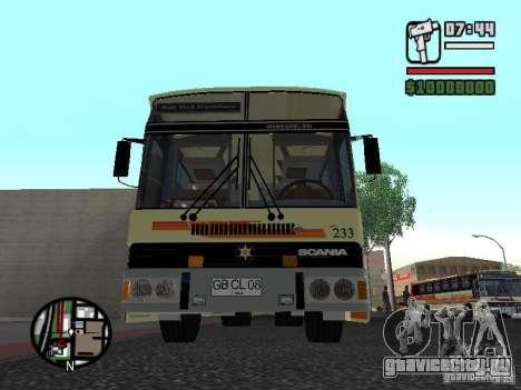 MARCOPOLO III SCANIA 112 для GTA San Andreas вид сзади слева