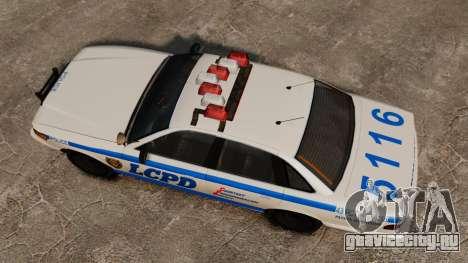 Новый Police Cruiser для GTA 4 вид справа