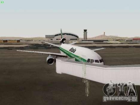 McDonell Douglas DC-10-30 Alitalia для GTA San Andreas вид изнутри