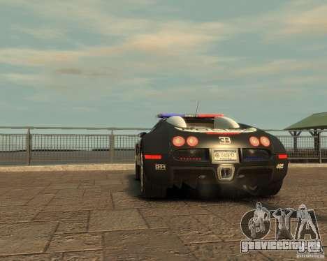 Bugatti Veyron Police [EPM] для GTA 4 вид сзади