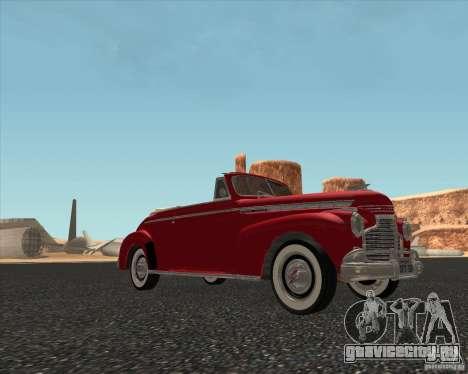 Chevrolet Special DeLuxe 1941 для GTA San Andreas вид сзади слева