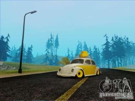 Volkswagen Beetle Edit для GTA San Andreas вид сзади