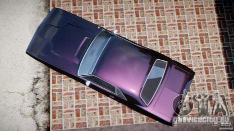 Dodge Challenger 1971 RT для GTA 4 вид справа