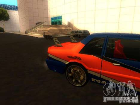 Previon FNF3 для GTA San Andreas вид сзади слева