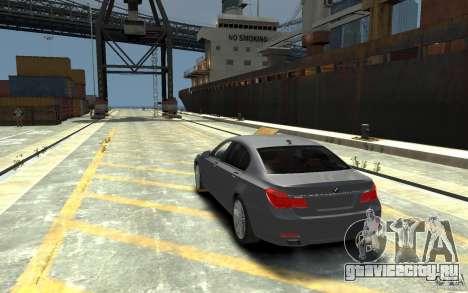 BMW ActiveHybrid 7 2010 для GTA 4 вид сзади слева