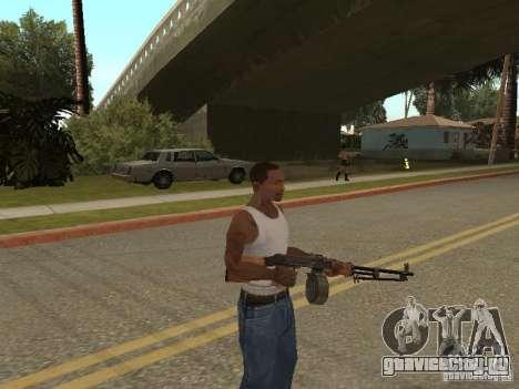 Ручной Пулемёт Дягтерёва для GTA San Andreas третий скриншот