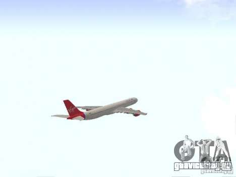 Airbus A340-600 Virgin Atlantic для GTA San Andreas вид изнутри