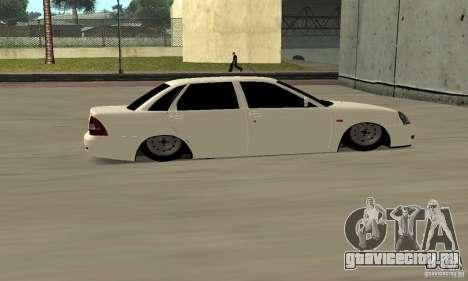 Lada Priora Low для GTA San Andreas вид справа
