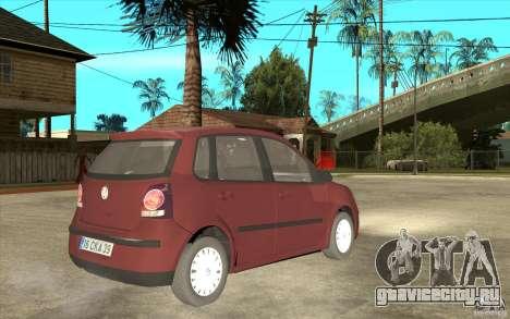 Volkswagen Polo 2006 для GTA San Andreas вид справа