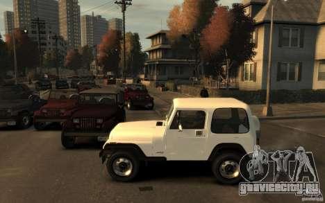 Jeep Wrangler 1986 для GTA 4 вид слева
