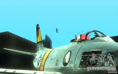 F 86 Sabre для GTA San Andreas вид сзади слева