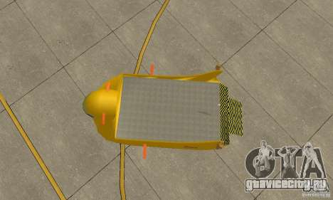 Воздушная платформа Air Carrier для GTA San Andreas вид сзади