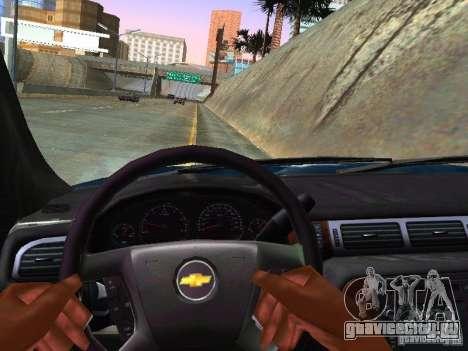 Chevrolet Tahoe 2008 Police Federal для GTA San Andreas вид изнутри