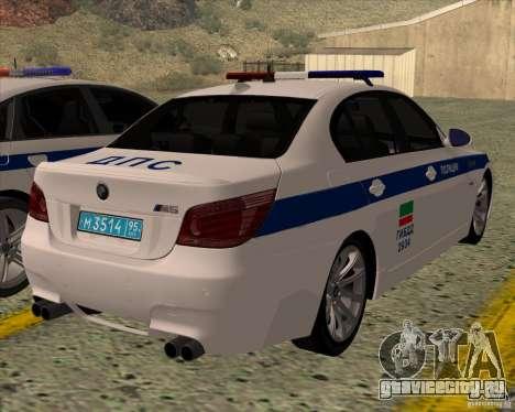 BMW M5 E60 ДПС для GTA San Andreas вид слева