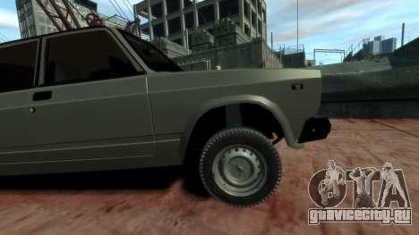 ВАЗ 2107 для GTA 4 вид справа