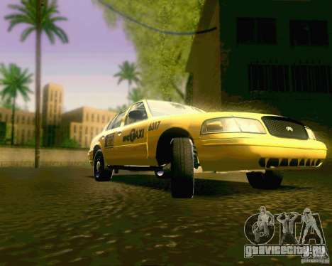 Ford Crown Victoria 2003 NYC TAXI для GTA San Andreas вид сзади