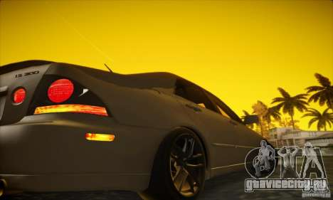 Lexus IS 300 для GTA San Andreas вид сзади