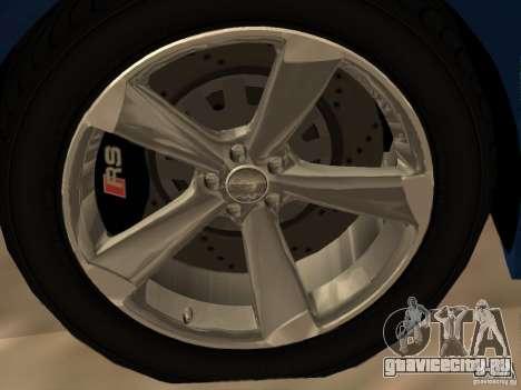 Audi TT RS для GTA San Andreas салон