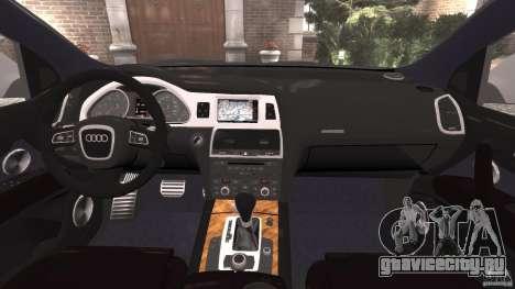 Audi Q7 V12 TDI v1.1 для GTA 4 вид сзади