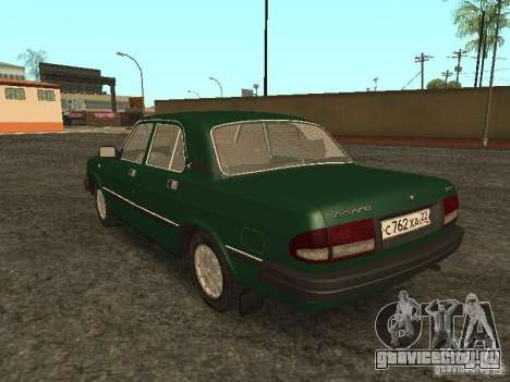 ГАЗ 3110 v.2 для GTA San Andreas вид сзади слева