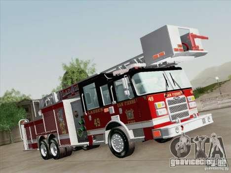 Pierce Rear Mount SFFD Ladder 49 для GTA San Andreas вид справа