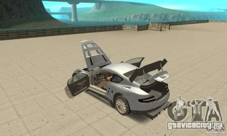 Aston Martin DBR9 (v1.0.0) для GTA San Andreas вид изнутри