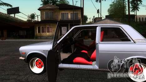 Nissan Datsun 510 для GTA San Andreas вид изнутри