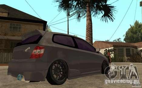 Honda Civic Type-R для GTA San Andreas вид справа