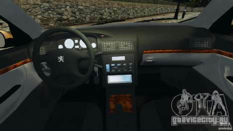 Peugeot 406 Taxi для GTA 4 вид сзади
