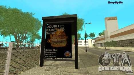 Автобусные остановки в HD для GTA San Andreas второй скриншот