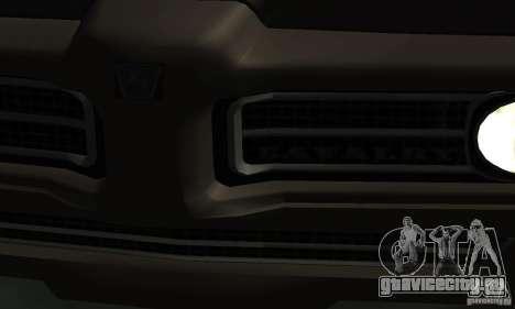 Hunter Cavalry из Burnout Paradise для GTA San Andreas вид справа