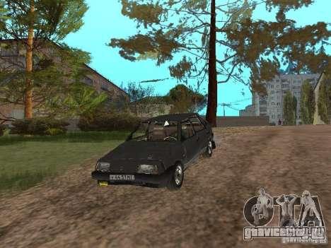 ВАЗ-2109 1987 Спутник v1.2 для GTA San Andreas вид сбоку