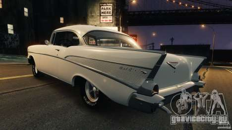 Chevrolet Bel Air Hardtop 1957 Light Tun для GTA 4 вид сзади слева