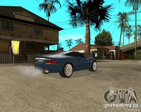 Aston Martin Vanquish для GTA San Andreas вид справа