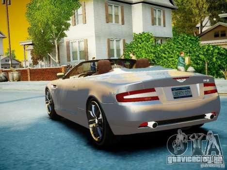Aston Martin DB9 Volante v2.0 для GTA 4 вид сбоку